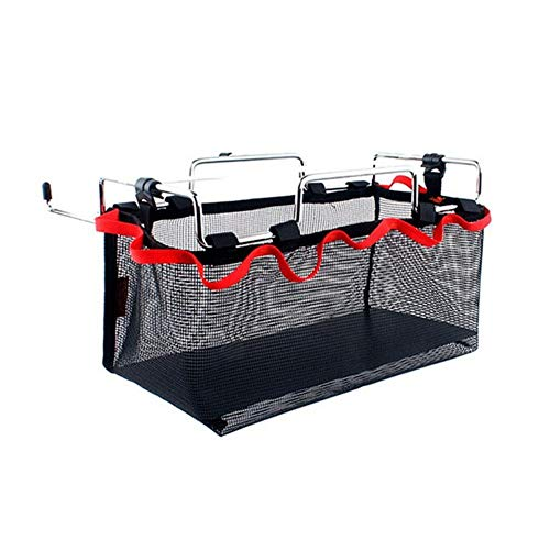 Plegable Bolsa de Malla Mesa de Picnic Rack de Almacenamiento de la Materia Bolsa de Red para el Negro al Aire Libre
