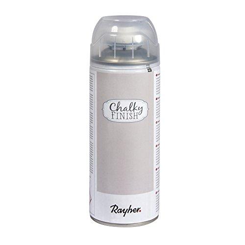 RAYHER Chalky Finish Spray 400ml, Kreidefarbe für eine Fläche von circa 1,5 – 2m², Helltopaz