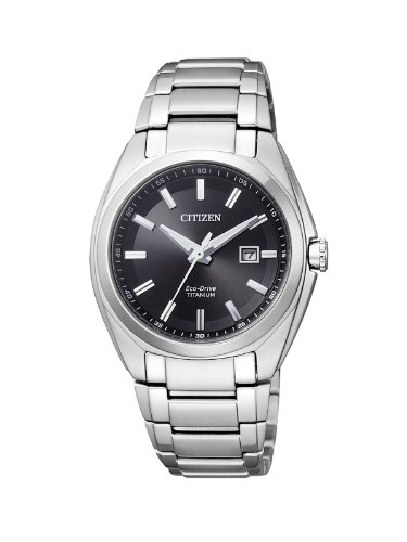 Citizen Damen Analog Quarz Uhr mit Titan Armband EW2210-53E