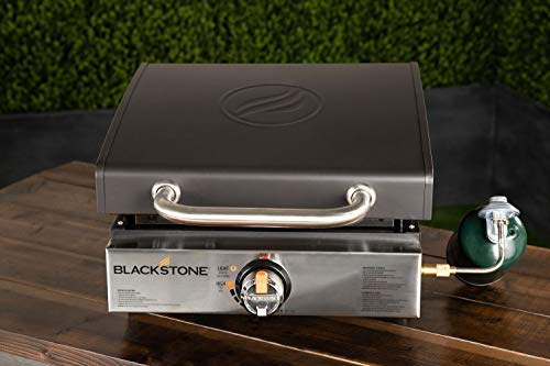 Blackstone 1814 - Plancha de Mesa con Placa Frontal y Capucha de Acero Inoxidable, 43 cm