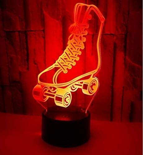 Led Creative Design Skates Nachtlicht Bunte Fernbedienung Touch 3D Lichter Dekorative Kinder Sportgeschenke