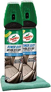 Turtle Wax Power Out Upholstery Cleaner (18 oz) Bundle with Microfiber Cloth (3 Items)