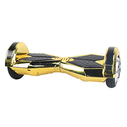 M MEGAWHEELS, 8' Self Balance Scooter Elettrico con Bluetooth e Luci a LED...