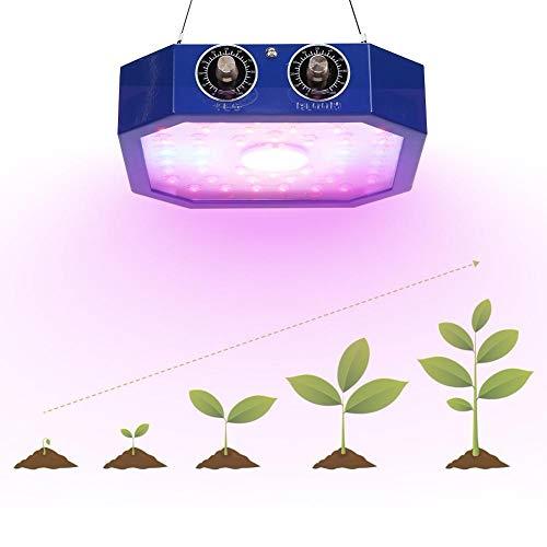 Unbekannt Pflanzenlicht, LED-Zuchtlampe Doppelknauf Vollspektrum 1100W COB Pflanzen Zuchtlicht AC85-265V Zuchtlampen für Zimmerpflanzen(EU)