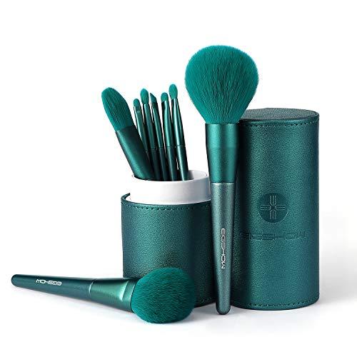 Juegos de brochas de maquillaje con caja cilíndrica, Eigshow Juego de brochas de maquillaje profesional Cosméticos sintéticos Base Correctores en polvo Mezcla de sombras de ojos