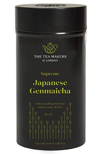 The Tea Makers of London  hochwertiger Japanischer Genmaicha gerösteter Reis lose Blätter Tee vom Tee Onlineshop, 1er Pack (1 x 100 g)