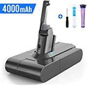 BuTure V8 4000mAh 21.6V Replacement Battery for Dyson SV10 V8 Absolute Fluffy Animal Handheld Vacuum Cleaner with Pre-filters, Cleaning brush and Screwdriver