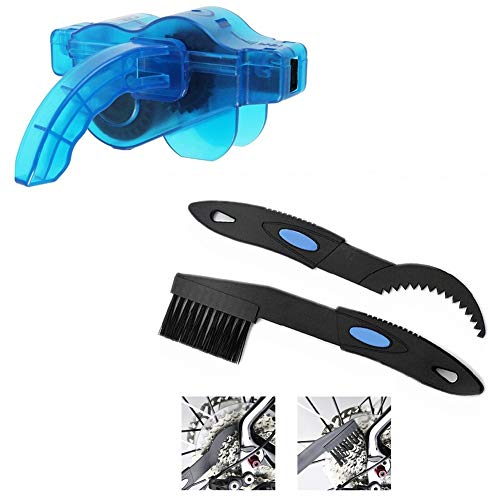 Heall Set of 2 bicycle brush bicycle chain gears cleaner washer bicycle chain cleaning products, chain gear cleaner, bicycle cleaning tool
