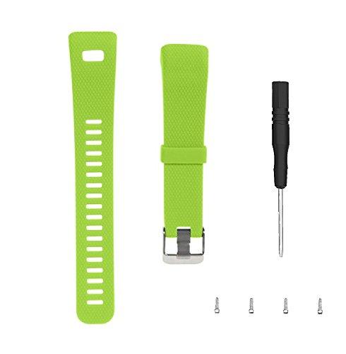 WEINISITE Bracelets pour Garmin Vivosmart HR+,Souple Silicone Remplacement Bracelets pour Garmin Vivosmart HR Plus Trackers d'activité (Verte)