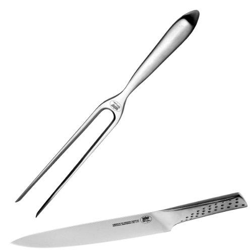 Weber 17074 Tranchierbesteck, Messer und Gabel