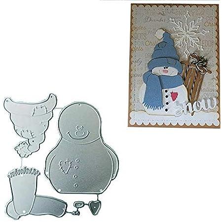 Snowman Cutting Dies Christmas Winter Embossing DIY Paper Craft Stencils Cards