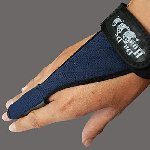 CapsA Fishing Gloves Professional Neoprene Anti-Slip Fishing Gloves Single-Finger Fish Stall Glove Index Finger Protector (Blue)