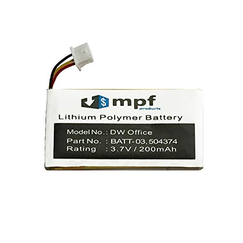 MPF Products 200mAh 504374, BATT-03 Battery Replacement Compatible with Sennheiser DW Office, DW Pro1, DW Pro2, MB Pro, OfficeRunner, SD Office, SD Pro1, SD Pro2 Headsets