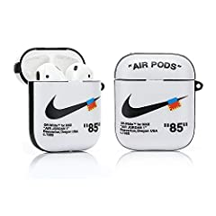 ❤【Diverse Elements Skin Pattern】Airpods case cute skin pattern, Sesame Street,Smiley Face,Jordan 23,Vans,NIKE AJ,Supreme, fashion elements very stylish and unique, small and exquisite, carry it with you, make you look different. At the same time, thi...