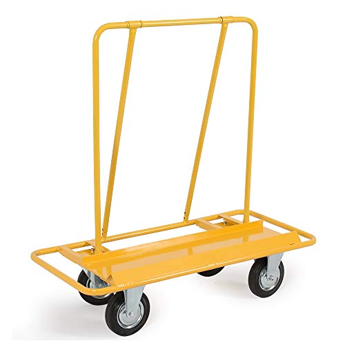 ARKSEN Professional 2000LB Drywall Cart Dolly Handling Sheetrock Sheet Panel Service Cart, Yellow