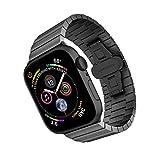 ARTCHE Cinturino per Apple Watch da 40mm 38mm in acciaio inox, cinturino di ricambio per orologio da polso regolabile, compatibile con iwatch Series 6 SE 5 4 3 2 1, Ne
