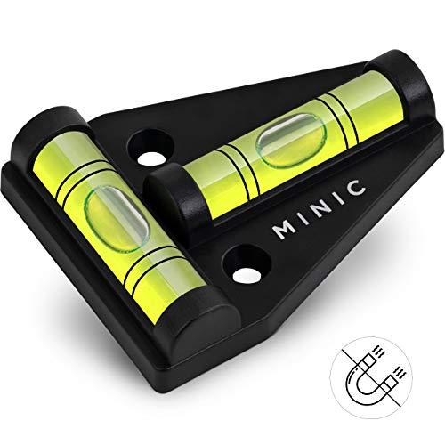 MINIC Kreuzwasserwaage || Kleine Wasserwaage | Strapazierfähig und Bruchsicher | Wohnmobil Zubehör | Einfach zu Montieren | Wohnwagen Zubehör | Universal Wasserwaage