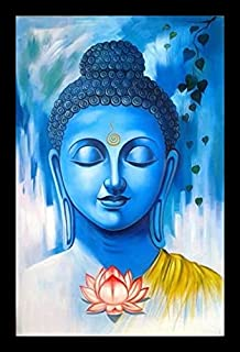 Calming Buddha Digital Print Painting | Beautiful Wall Decor Painting| Wooden Frame with Glass | Painting for Wall, Living...