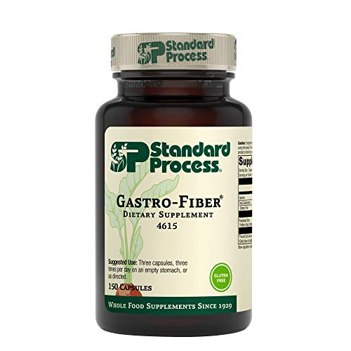 Standard Process Gastro-Fiber - Whole Food Digestion and Digestive Health, Indigestion, Cramps, and Blood Sugar Support with Collinsonia Root, Apple Pectin, and Fennel Seed - 150 Capsules