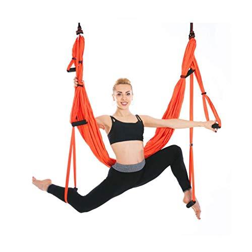 Queen Boutiques Aerial Yoga Swing Set Anti-zwaartekracht Plafond Ophangen Yoga Sling Super Sterke 440 lb Lading Omgekeerde Praktijk Yoga Hangmat
