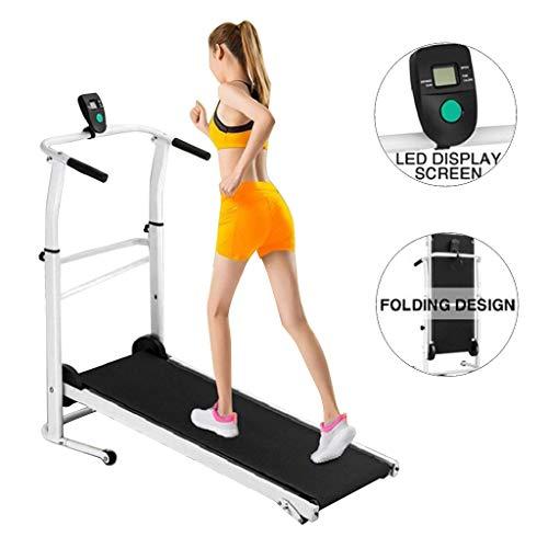 Joopee Treadmill Folding Manual Working Machine Cardio Fitness Exercise Incline Home Running Machine
