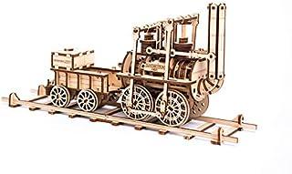 機関車 ゴム動力で動く木製立体パズル 3D Locomotion Wooden.city