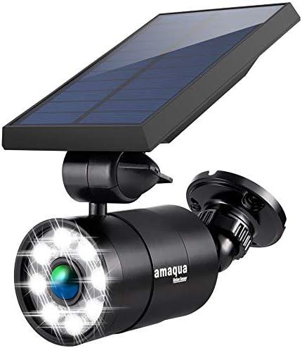 Solar Motion Lights Outdoor 9 Watt 110W Equ 1400 Lumen Aluminum Solar Spotlights Flood Security product image