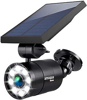 Amaqua 9W (110W Equiv) 1400-Lumen Solar Motion Lights (Black or White)