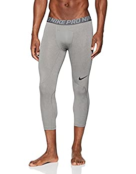 Nike Men s Pro 3qt Tight  Carbon Heather/Dark Grey/Black Small