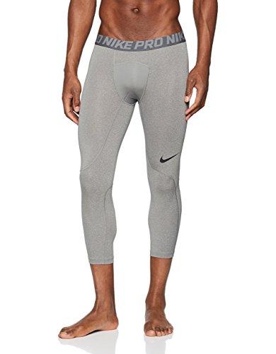Nike Men's Pro 3qt Tight (Carbon Heather/Dark Grey/Black, Medium)