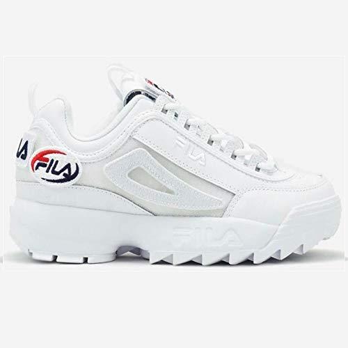 Fila Scarpe da Donna Sneaker Disruptor Vari Modelli (40.5 EU, Wht/Wht/Wht)