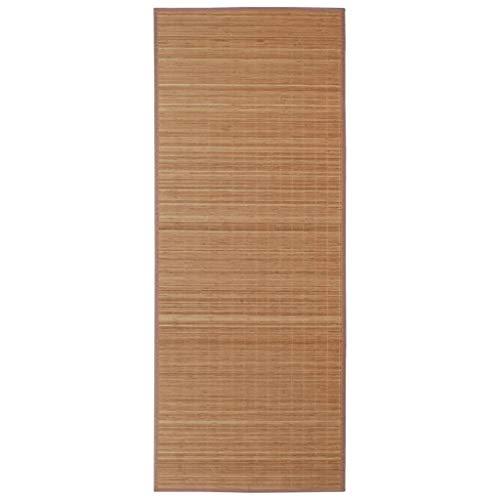 vidaXL Alfombra de bambú Natural Cuadrada Color marrón, 150 x 200 cm