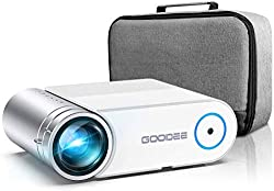cheap Projector, GooDee 2020 Upgrade Mini Video Projector G500, Largest Portable Cinema Projector.  At 200 inches …