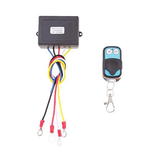 PETSOLA 12 / 24V ATV SUV Kit de Control Remoto Inalámbrico de Cabrestante Interruptor de Auricular Universal