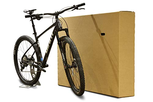 Bicycle Cardboard Box - Double Walled Solid Cardboard Bike Box for Packing, Storing & Shipping | Best for Bikes, Mirrors, TV & Artworks | with Handles and Extra Strength | Multiple Sizes