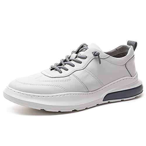 JUST ALONE Running Hombre Calzado Deportivo Ligero y Transpirable Asfalto Zapatos para Correr Antideslizante Sneakers Aire Libre Sneakers (Color : Blanco, Size : EU 43)