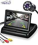 FABTEC Car 4.3-inch Rear View HD Foldable Dashboard Screen with 8 LED Night Vision Waterproof...