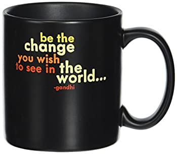 Quotable Be The Change - Gandhi Mug - Quotes Kitchen Home MUG-GD56-QUOTE