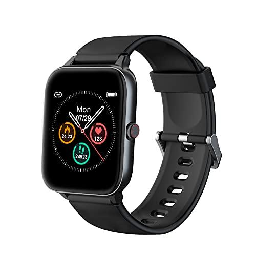 IOWODO R3Pro Smartwatch Donna Uomo Orologio Fitness 1,5   Full Touch Impermeabil IP68 Cardiofrequenzimetro Contapassi Cronometro Modalità Nuoto Activity Tracker Smart Watches per Android iOS