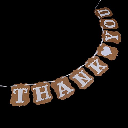 Pixnor Thank You Wedding Bunting Banner Photo Booth Garland Props Anniversary Bridal Party Decoration