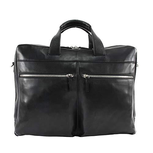 LEONHARD HEYDEN Amsterdam Zipped Briefcase Black