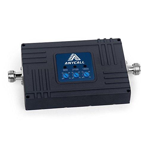 Handy Signalverstärker GSM LTE 2G/3G/4G EGMS 900 (Band 8)/WCDMA 2100 MHz(Band 1) 1800MHz (Band 3) Repeater Signal verstärken, Handy-Mobilfunknetz verbessern
