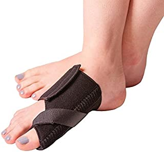 BraceAbility Soft Bunion Splint | Brace to Correct and Straighten Big Toe Alignment, Non-Surgical Hallux Valgus Joint Support Remedy & Arthritis Pain Relief Wrap (Large - Right)