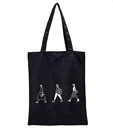 Wicemoon Sac Cabas Femmes,Femmes Sac à main Modèle de trois filles,Sacs de plage Cabas décontractés Cartables,Travail ou vie scolaire