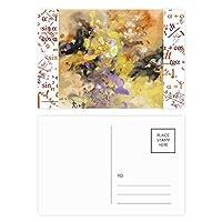 秋の静物油絵アートフラワー 公式ポストカードセットサンクスカード郵送側20個