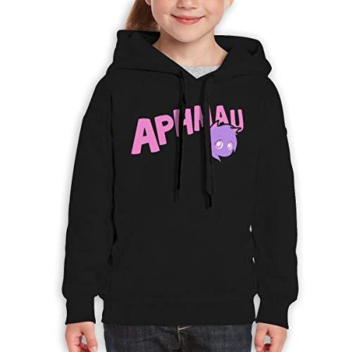 BINPON123 Boys Girls Aphmau Teen Youth Hoody Black (L)