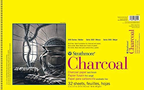 Pro-Art-Bilderpalette Pad Papier Strathmore Spirale Gris Anthracite 28 x 43 cm, 32 Feuilles