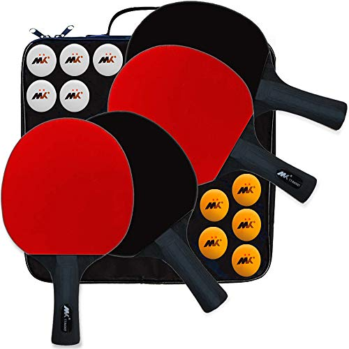 Find Bargain SHXH Table Tennis Racket,Ping Pong Paddle Set,Training Racquet Kit,with Portable Cover ...