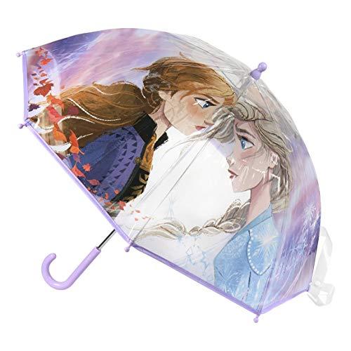 Cerdá - Paraguas Transparente de Frozen - Licencia Oficial Disney
