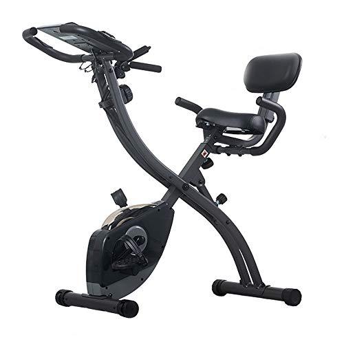 Opvouwbare hometrainer, indoorfiets met LED-display en hartslagmeter Handvat Verstelbare stoel en magnetische demper Sportuitrusting - 8 bestanden Weerstand
